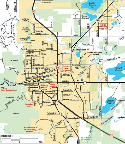 Travel Map - City map of colorado